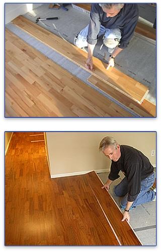 Canada West Wood Flooring Solutions Install Float Floors
