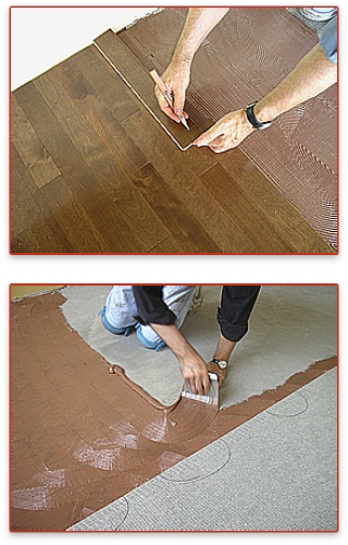 Canada West Wood Flooring Solutions Install Glue Down